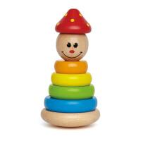 Hape小丑堆塔1-2岁叠叠高系列儿童益智婴幼玩具木制玩具E0400