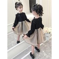秋冬装儿童韩版公主加厚内搭裙子冬季女童洋气加绒连衣裙