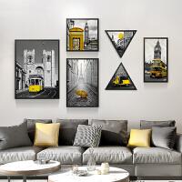 北欧风格装饰画客厅挂画沙发背景墙现代简约餐厅墙画墙面装饰壁画