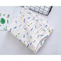 水洗6层纱布浴巾 儿童卡通洗澡巾婴儿盖毯方形毛巾被