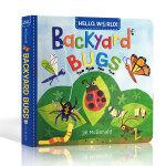 英文原版 Hello World Backyard Bugs 你好世界系列 庭院昆虫 幼儿科普百科启蒙认知 纸板书