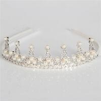 儿童珍珠立体头箍发箍 儿童配饰发饰新娘珍珠发饰皇冠