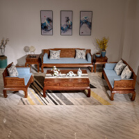 沙发组合新中式沙发 罗汉床京瓷明清古典仿古五件套 组合