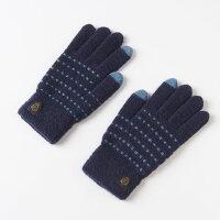 手套男冬 保暖 学生触摸屏男士手套冬季保暖骑车全手毛线