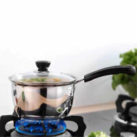 不锈钢加厚汤锅不粘锅小炖锅煲汤奶锅具家用锅子煮粥汤锅蒸锅火锅 18CM奶锅