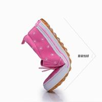 女童鞋子女童帆布鞋春季女宝宝布鞋套脚软底单鞋