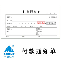 会计凭证 主力财务用品财务凭证48K付款通知书 主力财务用品财务凭证牌付款通知单 财务办公用品单据