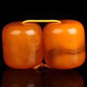 蜜蜡满蜡桶珠配珠套装1.93g