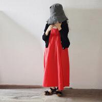 中大童裙子女童12夏连衣裙15岁韩版文艺范小清新儿童宽松吊带长裙
