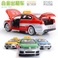 嘉业散装滴滴打车的士出租车合金模型 声光回力功能儿童玩具车