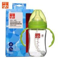 好孩子玻璃奶瓶 goodbaby母乳实感宽口径握把吸管玻璃奶瓶 180ml