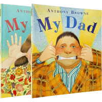 我的爸爸妈妈 绘本 英文原版 My Mum My Dad 安东尼布朗幼儿英语启蒙图画书 廖彩杏书单 家庭关系情商管理书籍