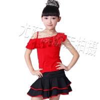 女童少儿拉丁舞吊带裙 套装幼儿演出服夏 新款六一儿童舞蹈服练功服