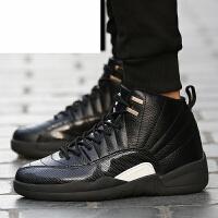 新款秋冬季篮球鞋男气垫减震防滑透气高帮学生运动鞋休闲潮流男鞋子