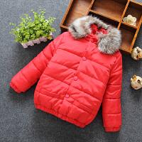 儿童棉衣秋冬季童装羽绒男女中小童宝宝保暖毛领外套棉袄