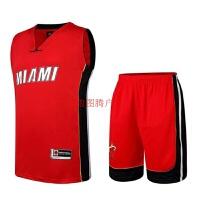 热火队服球衣波什韦德篮球服套装学生比赛球衣印号