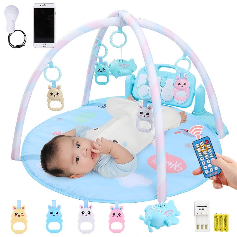 婴儿玩具健身架宝宝脚踏钢琴儿童多功能健身架 婴幼儿新生儿小男孩女孩音乐健身0-1岁