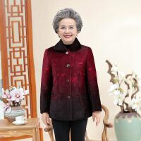 中老年人棉服 中老年人棉衣2020冬新款仿貂毛加绒加厚外套妈妈装短款上衣