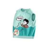 【2件3折到手价:71.4】小猪班纳童装儿童马甲男童秋装宝宝毛线背心纯棉针织上衣卡通线衫