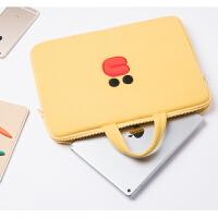 苹果Air笔记本电脑包Macbook15内胆包mac13.3寸pro13保护套手提 黄色