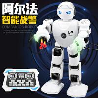 【全店两件5折】乐能阿尔法战警2.4G遥控智能机器人 编程演示唱歌跳舞礼品玩具