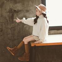 女童秋冬装上衣韩版时尚儿童毛毛衣中大童洋气女孩衣服潮