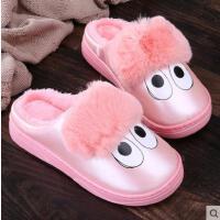 冬季儿童棉拖鞋室内防水防滑厚底男女中小童居家卡通可爱毛毛拖鞋