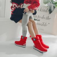 小学生棉靴大童冬天羽绒棉鞋加绒半桶初中生少女雪地靴子
