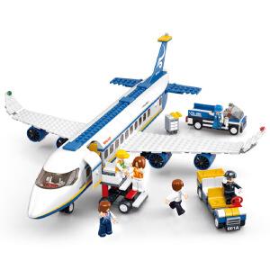 【当当自营】小鲁班航空天地系列儿童益智拼装积木玩具 空中巴士M38-B0366