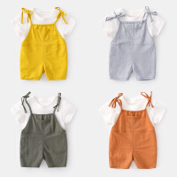 宝宝套装夏季婴儿两件套薄款男0-6个月儿衣服夏装短袖女