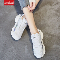 【满100减50/满200减100】Coolmuch女跑鞋2019新款轻便缓震透气小熊底校园女生运动休闲跑步鞋HL20