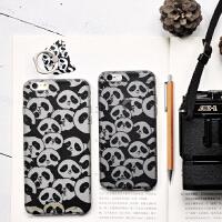 新款 �有牧计� 原创可爱熊猫苹果手机壳 指环支架 iphone6保护套 苹果手机壳