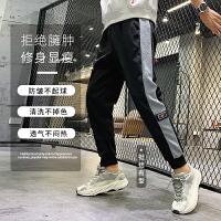 男士冬季九分裤子2020新款韩版潮流宽松加绒加厚休闲运动长裤秋冬