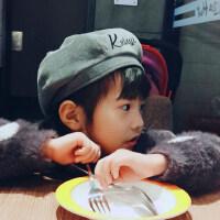 儿童贝雷帽女女童英伦女孩宝宝画家帽可爱兔耳朵帽子