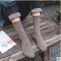 袜子男中筒袜羊毛袜男士棉袜男人袜加厚保暖袜防臭商务绅士