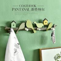 美式玄关衣帽架钥匙挂钩创意木质挂衣架墙面挂架房间装饰壁挂墙饰
