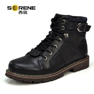 西瑞男靴工装靴子男士短靴牛皮靴军靴男特种兵大头靴英伦冬季男鞋3167