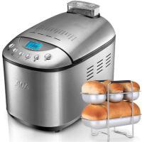 【ACA北美电器旗舰店】AB-3SF16 面包机全自动家用 双搅拌头全不锈钢