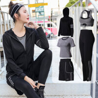 大码运动套装女胖mm200斤休闲晨跑步健身房速干衣宽松瑜伽服