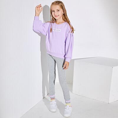 【3件3折到手价:115】小猪班纳童装女童春装套装2020新款儿童休闲长袖卫衣打底裤两件套