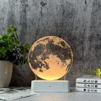 创意小礼品3D立体小夜灯插电床头灯梦幻简约现代卧室台灯生日礼物