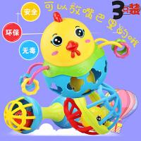 婴儿童手摇铃玩具0-1岁宝宝软胶可咬套装3-6-12个月男孩女孩益智
