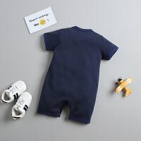 宝宝衣服0-3个月初生儿哈衣男女宝宝夏季连体衣潮