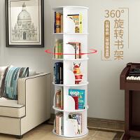 创意旋转书架360度现代简约转角置物卧室落地移动客厅ins书柜 加层
