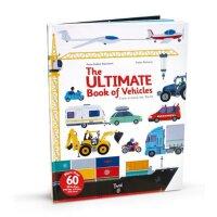 进口英文原版 The Ultimate Book of Vehicles 陆海空交通工具游戏书 交通工具百科全书 大开本纸板操作翻翻书 宝宝认识汽车