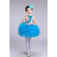 六一儿童演出服装幼儿园中小学生大合唱男童女童舞蹈表演服装蓝色