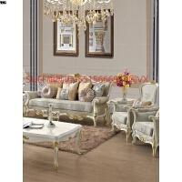 欧式布艺沙发组合大户型全实木新古典美式乡村香槟金法式客厅家具 香槟金/全实木框架/土耳其提花布