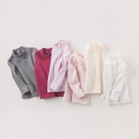 戴维贝拉秋冬女童加厚T恤 女宝宝长袖打底衫DB6528