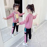 女童卫衣套装春装女孩童装儿童春秋运动两件套