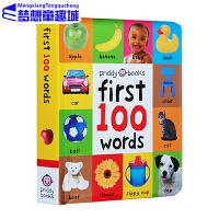 First 100 Words 英文原版 英语启蒙认知100词图解字词典 罗杰普利迪 撕不烂纸板书 第一次认感知 儿童英语启蒙绘本